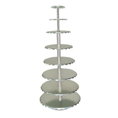 MY72001-8层单柱蛋糕架(银色)