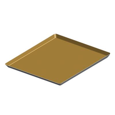 MY12342铝合金方型不粘平托盘(金色)